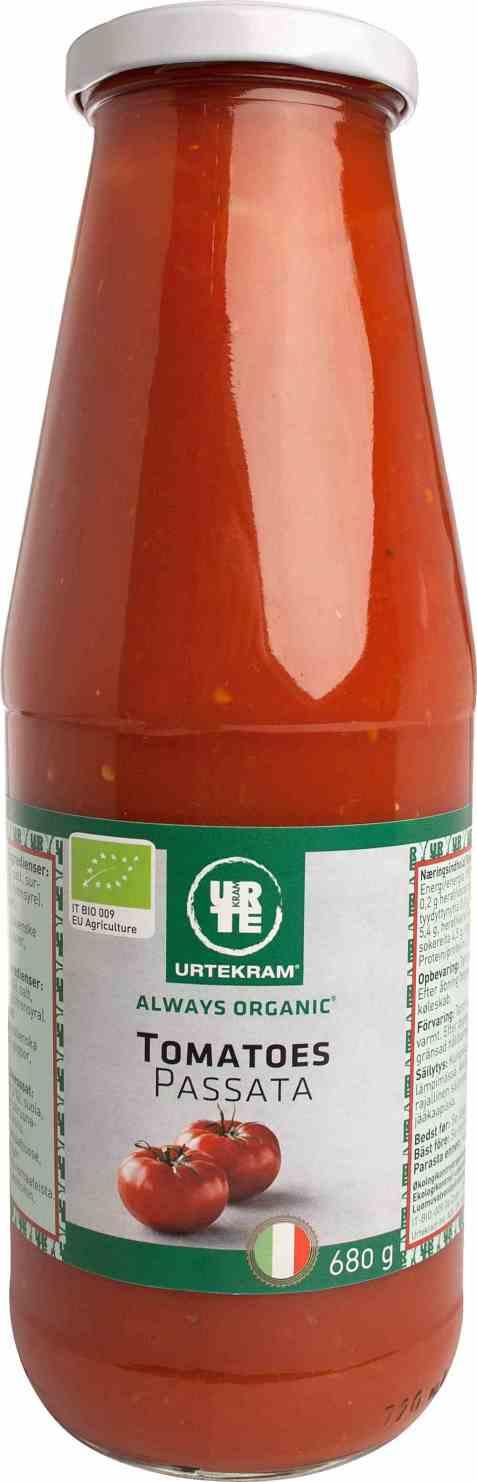 Bilde av Urtekram tomatoes passata.