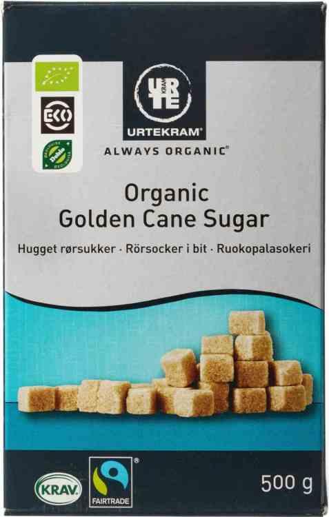 Bilde av Urtekram rørsukker sukkerbiter.