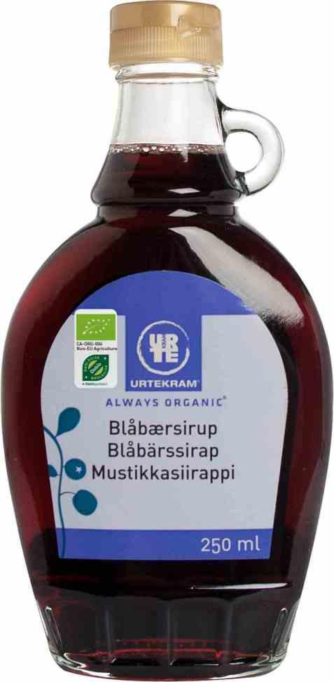 Bilde av Urtekram blåbærsirup.