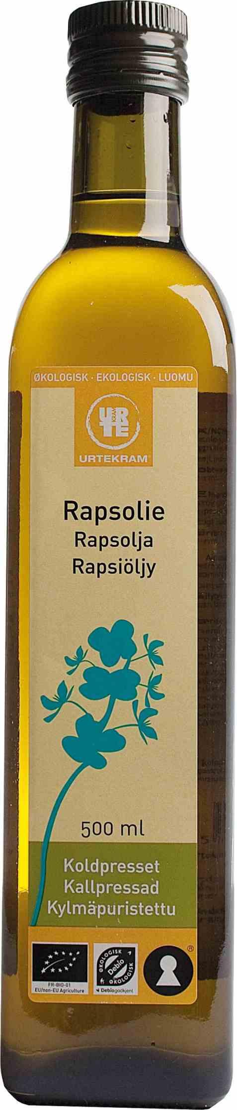 Bilde av Urtekram rapsolje 500 ml.