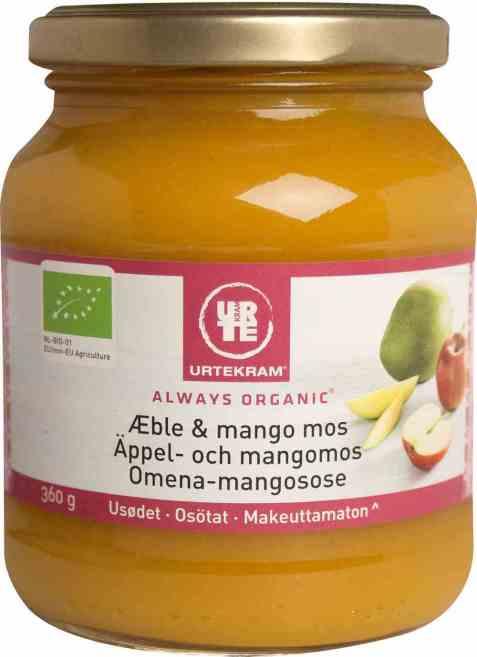 Bilde av Urtekram eple og mangomos.