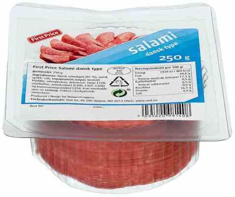 Bilde av First Price salami dansk.