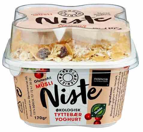 Bilde av Rørosmeieriet niste tyttebæryoghurt med musli.