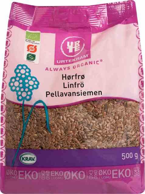 Bilde av Urtekram brune linfrø.