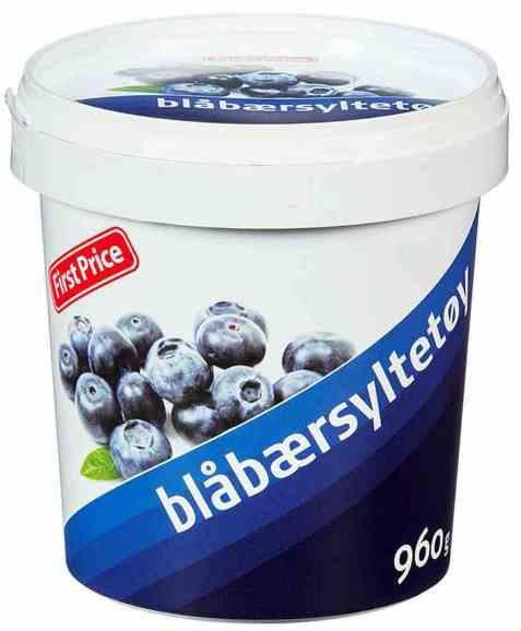 Bilde av First Price blåbærsyltetøy.