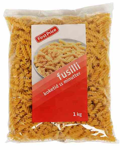 Bilde av First Price pasta fusilli.