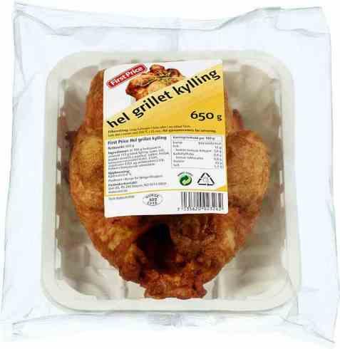 Bilde av First price kylling hel grillet.