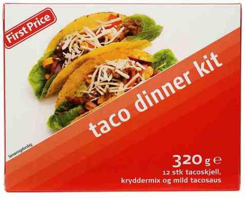 Bilde av First price taco dinner kit.