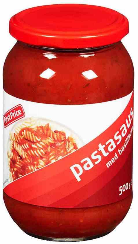 Bilde av First Price pastasaus.