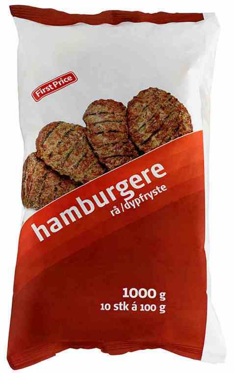 Bilde av First price hamburgere rå 1 kg.