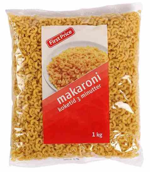 Bilde av First price makaroni.