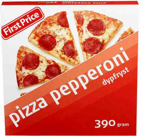 Bilde av First Price Pizza pepperoni.