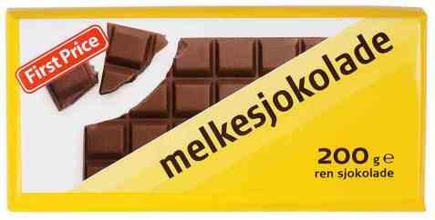 Bilde av First Price melkesjokolade.