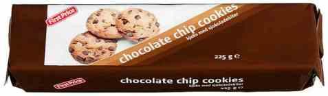 Bilde av First price choco chip cookies.