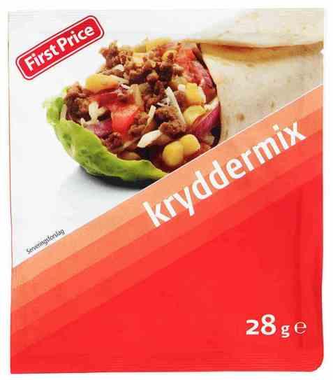 Bilde av First Price taco kryddermiks.