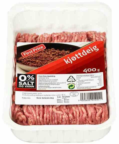 Bilde av First Price kjøttdeig.