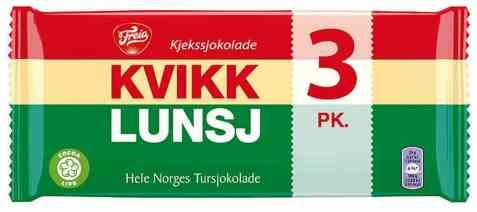 Bilde av Freia Kvikk Lunsj 3 pk.