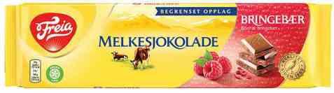 Bilde av Freia Melkesjokolade med Bringebær 190g.