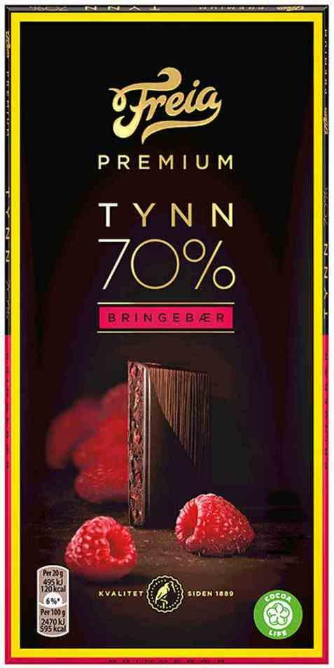 Bilde av Freia Premium 70 prosent bringebær.