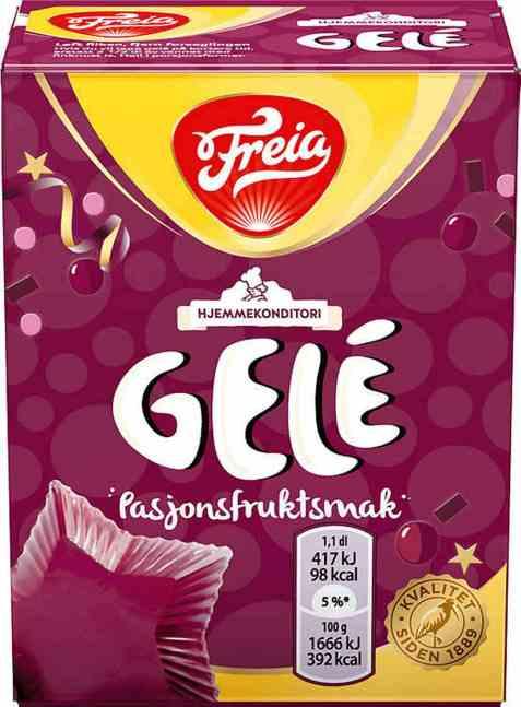 Bilde av Freia gele med pasjonsfruktsmak.