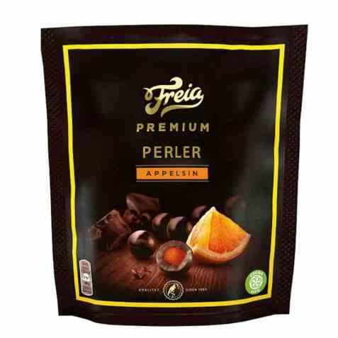 Bilde av Freia Premium perler appelsin 120 gr.