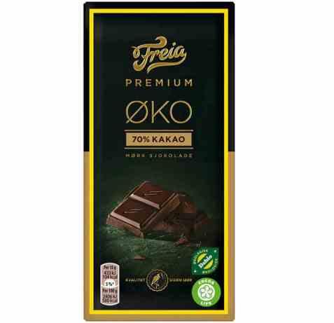 Bilde av Freia Premium øko 70 prosent mørk 90 gr.