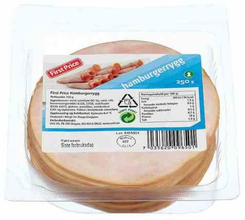 Bilde av First price hamburgerrygg 250 gr.