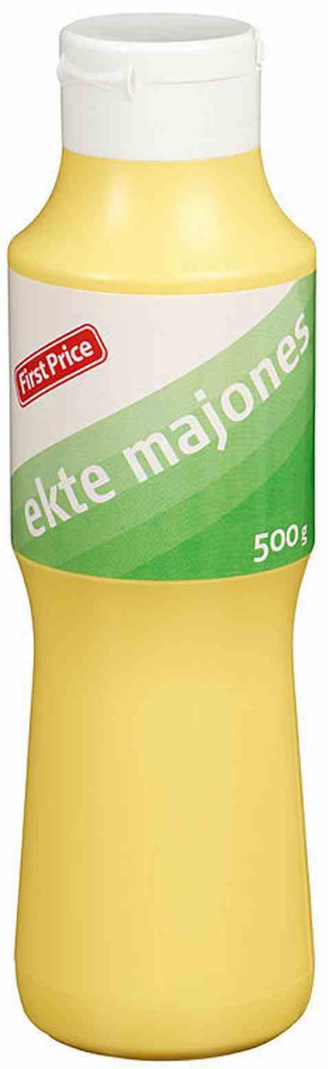 Bilde av First price majones ekte.