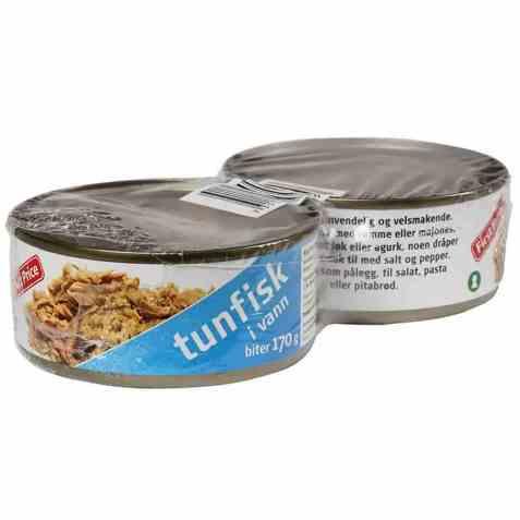 Bilde av First Price tunfisk i vann.