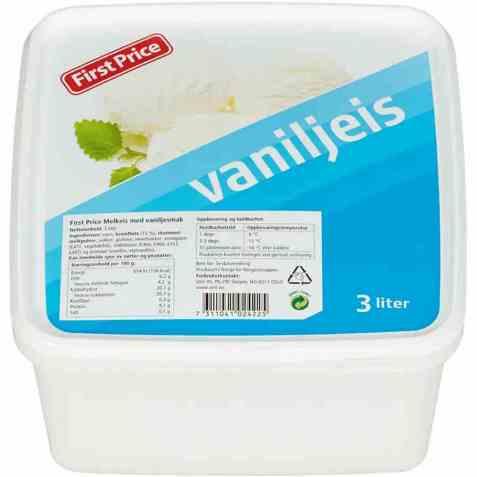 Bilde av First Price vaniljeis.