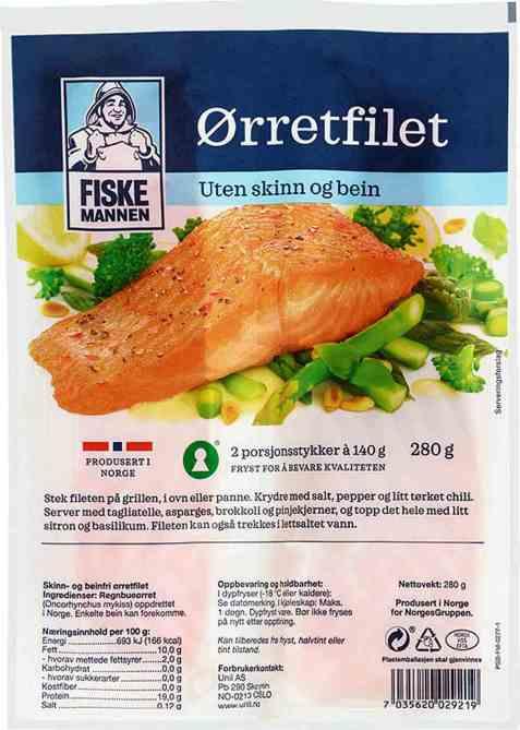Bilde av Fiskemannen ørretfilet porsjoner.