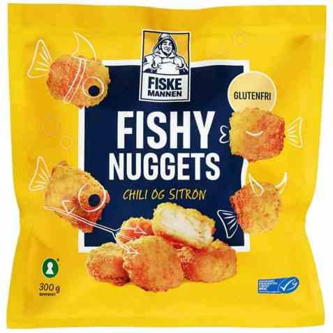 Bilde av Fiskemannen fishy nuggets sitron/chili.
