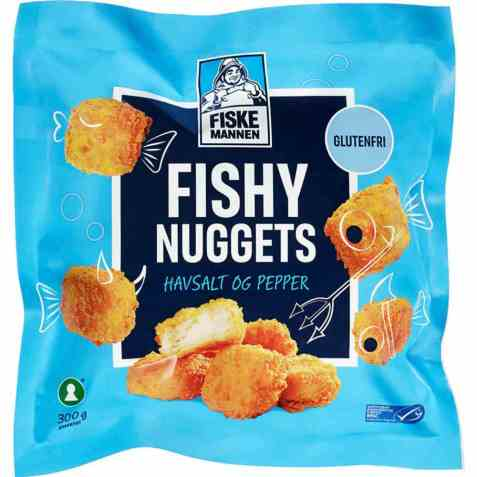 Bilde av Fiskemannen fishy nuggets havsalt/pepper.