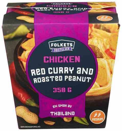 Bilde av Folkets chicken red curry roasted peanut 350 gr.