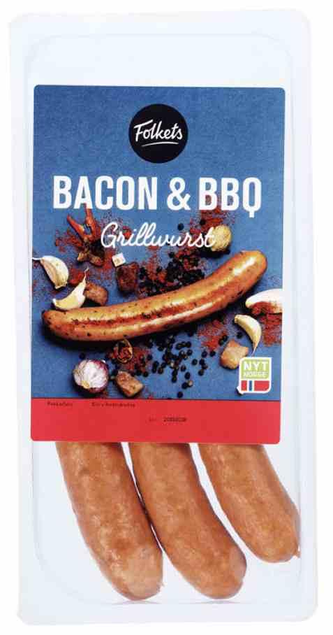 Bilde av Folkets grillwurst bacon og bbq.