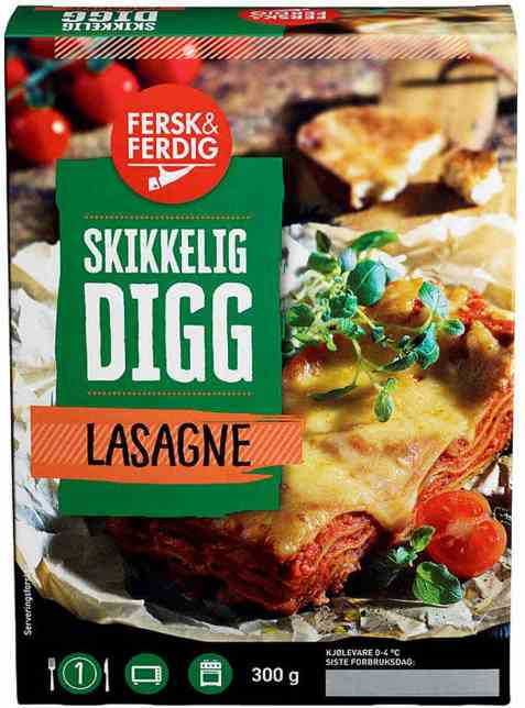 Bilde av Fersk og ferdig lasagne.