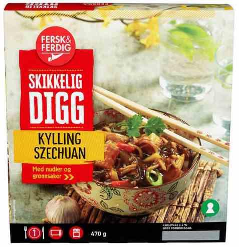Bilde av Fersk og ferdig kylling szechuan.
