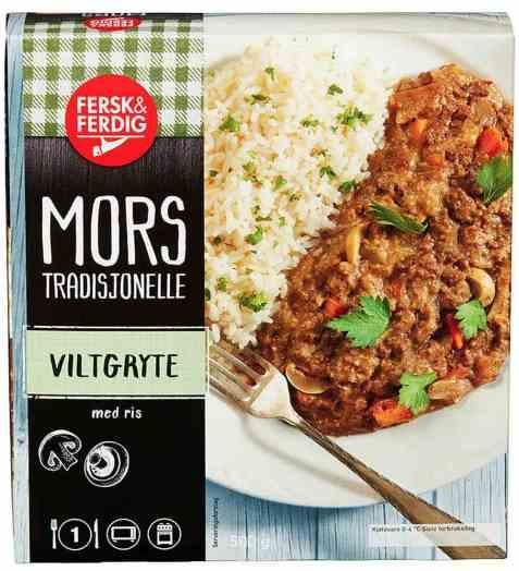 Bilde av Fersk og ferdig viltgryte med ris.