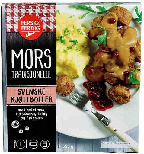 Bilde av Fersk og ferdig svenske kjøttboller.