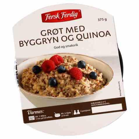 Bilde av Fersk og ferdig byggrynsgrøt med quinoa.