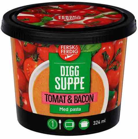 Bilde av Fersk og ferdig tomatsuppe.