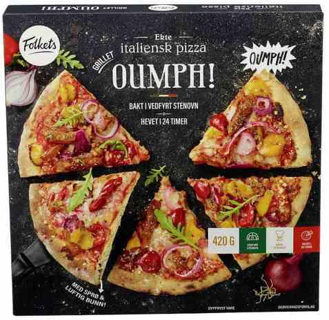 Bilde av Folkets pizza grilled oumph.