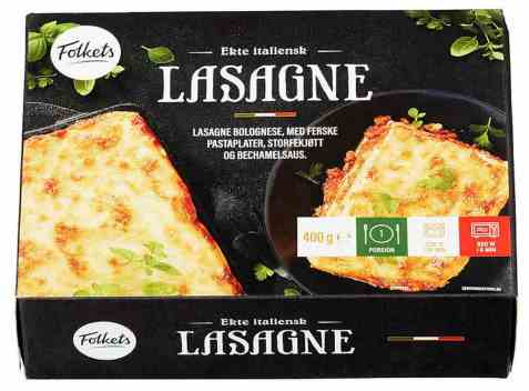 Bilde av Folkets lasagne 400 gr.