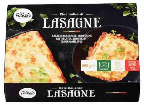 Bilde av Folkets lasagne 800 gr.