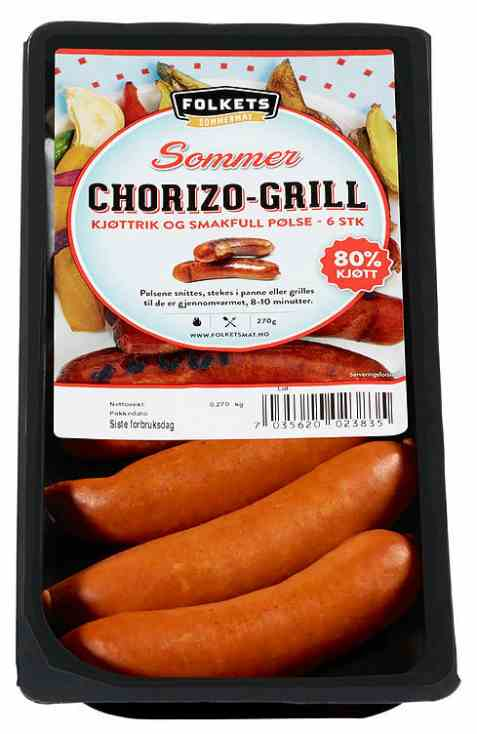 Bilde av Folkets chorizo grill sommer.