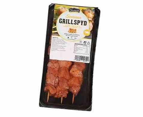 Bilde av Folkets grillspyd svin paprika, løk og koriander.