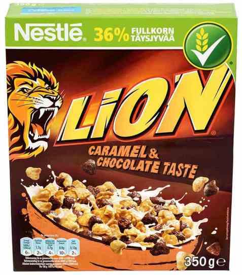 Bilde av Nestle Lion frokost karamell og sjokolade.