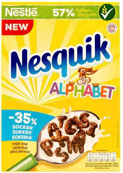 Bilde av Nestle alphabet frokostblanding.