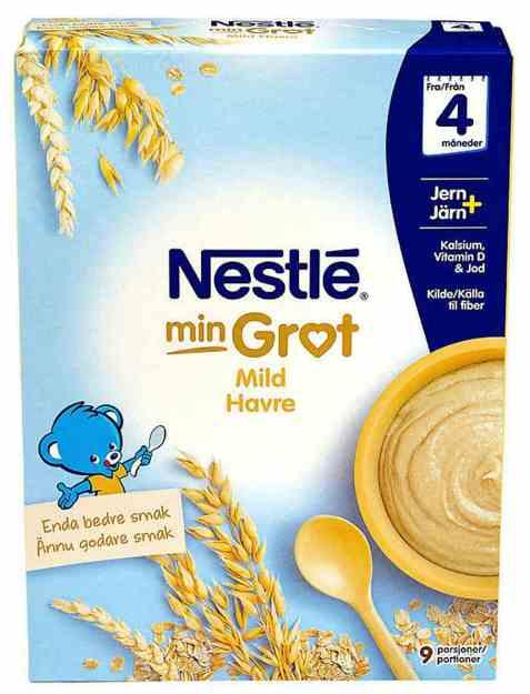 Bilde av Nestlé min grøt havre mild fra 4 mnd, pulver.