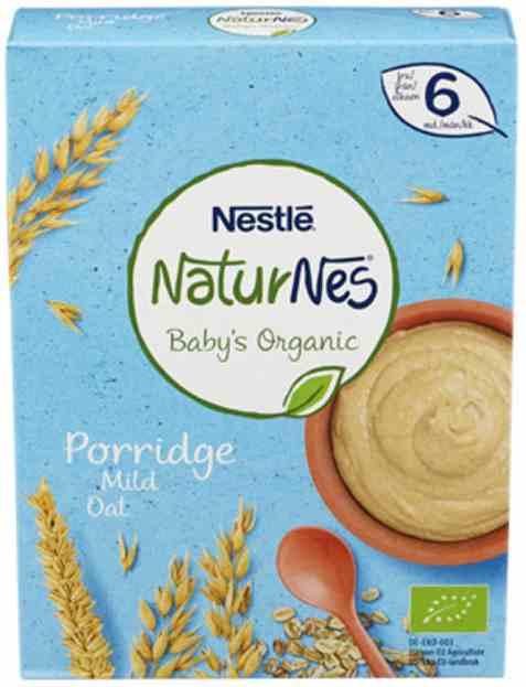 Bilde av Nestle naturnes økologisk grøt mild havre 6 mnd.